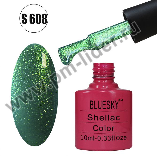 Гель-лак Shellac BlueSky, цвет №608